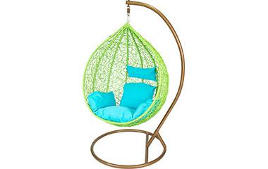 fotel-wiszacy-swing-zielony-stelaz-brazowy-240